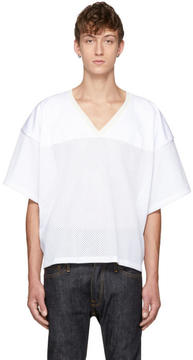 Fear Of God White Manuel Football Jersey T-Shirt