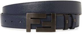 Fendi Men's Four-Notch Leather Belt