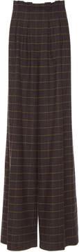 Stella Jean Plaid Paper Bag Trousers