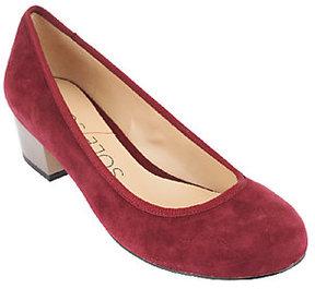 Sole Society Block Heel Round Toe Pumps - Jocelyn