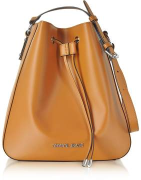 Armani Jeans Pumpkin Eco Leather Signature Bucket Bag
