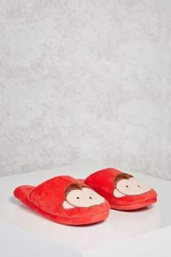 Forever 21 Fleece Monkey Slippers