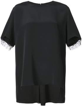 ADAM by Adam Lippes lace trim boxy blouse