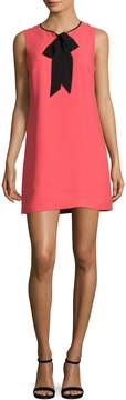 CeCe Women's Rosie Tie Neck Shift Dress
