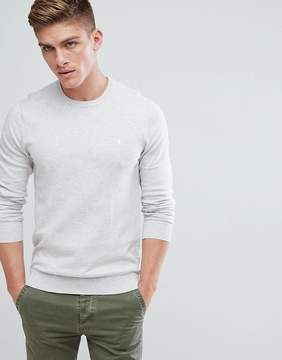 Jack Wills Seabourne Classic Crew Neck Sweater In Off White