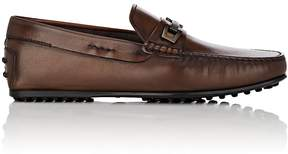 Tod's MEN'S BIT-DETAILED BURNISHED LEATHER DRIVERS