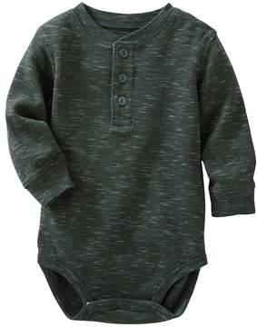 Osh Kosh Baby Boy Gray Thermal Slubbed Bodysuit