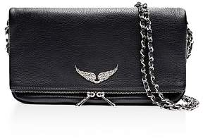 Zadig & Voltaire Rock Leather Crossbody Clutch