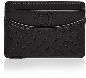 Tory Burch Alexa Slim Leather Card Case - BLACK/GOLD - STYLE