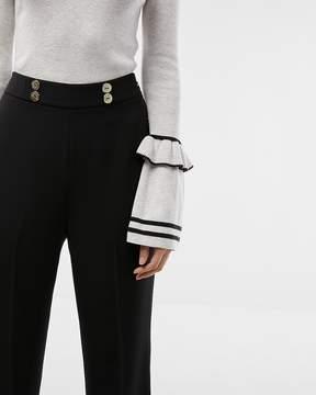 Express Extreme High Waisted Drape Wide Leg Dress Pant