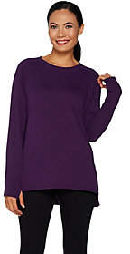 Cuddl Duds As Is Comfortwear French Terry Pullover Top