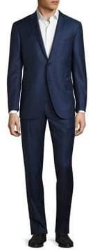 Corneliani Regular-Fit Checkered Wool Suit