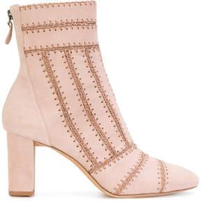 Alexandre Birman stitch panelled ankle boots
