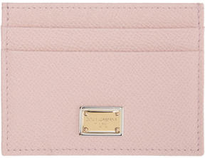 Dolce & Gabbana Pink Leather Card Holder - PINK - STYLE