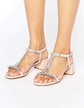 Dune London Malie Gem Block Heeled Sandals
