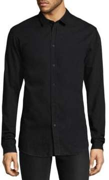 IRO Point Collar Long-Sleeve Cotton Shirt