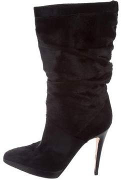 Brian Atwood Ponyhair Mid-Calf Boots