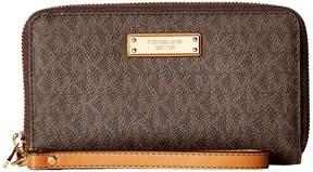 MICHAEL Michael Kors Wristlets Large Flat Multifunction Phone Case Wallet - BLACK - STYLE
