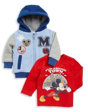 Nannette Baby Boy's Two-Piece Printed Jacket and Cotton Long-Sleeve Tee Set