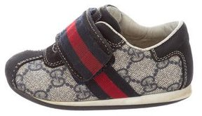 Gucci Boys' Web-Accented GG Canvas Sneakers