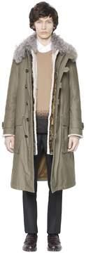 Fur & Cotton Parka Coat