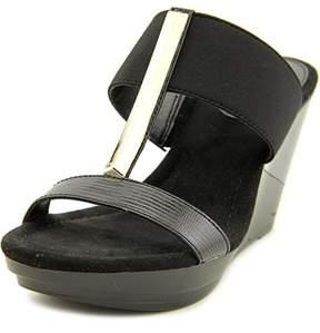 Alfani Bainer Open Toe Canvas Wedge Sandal.