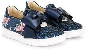 MonnaLisa glitter panel slip-on sneakers
