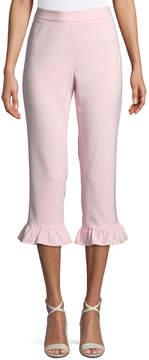 philosophy Ruffle-Cuff Trim-Leg Cropped Pants