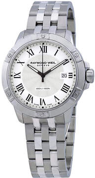 Raymond Weil Tango White Dial Men's Stainless Steel Watch