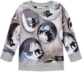 Molo Grey Milton Skater Tunnel Sweater