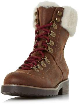 Head Over Heels *Head Over Heels by Dune Tan 'Rolli' Flat Ankle Boots