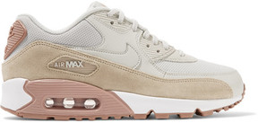 Nike Air Max 90 Suede-trimmed Leather Sneakers - Off-white