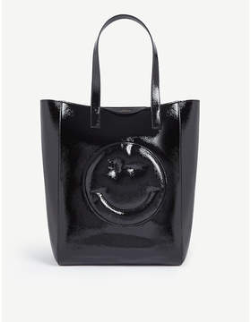 Anya Hindmarch Chubby smiley patent leather tote