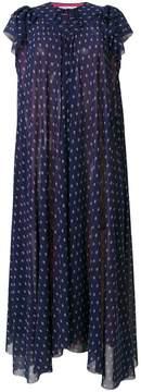 Balenciaga Flou V-neck print pleated dress