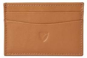 Aspinal of London Slim Credit Card Case In Smooth Tan