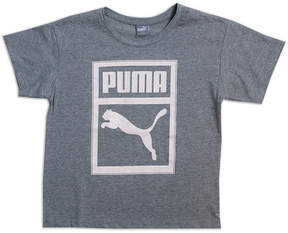 Puma Girls Apparel Short Sleeve Crew Neck T-Shirt-Big Kid Girls