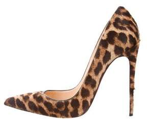Christian Louboutin Ponyhair Pointed-Toe Pumps