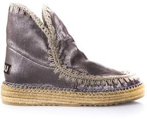 Mou Eskimo 18 Jute Bronze Laminated Leather Boots