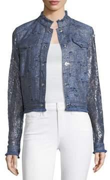 Elie Tahari Meggy Lace-Sleeve Jacket