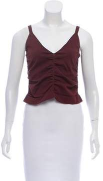 Opening Ceremony Ruched-Accented Crop Top