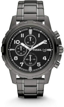 Fossil Dean Chronograph Smoke Stainless Steel Watch
