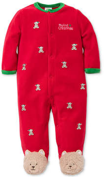 Little Me 1-Pc. Bear Footed Coverall, Baby Boys (0-24 months)