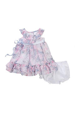 Laura Ashley Printed Clip Dot Dress (Baby Girls 0-9M)
