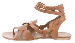 Hermes Leather Crossover Sandals