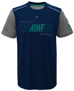 Majestic Seattle Mariners Club Series Cool Base T-Shirt, Big Boys (8-20)