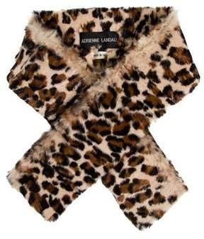 Adrienne Landau Animal Print Fur Stole
