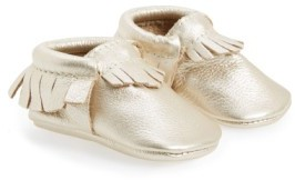 Freshly Picked Infant Girl's Metallic Leather Moccasin