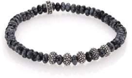 King Baby Studio Snowflake Agate & Sterling Silver Bracelet