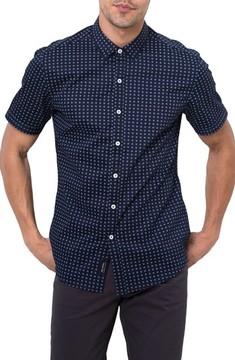7 Diamonds Men's Professor Rhythm Jacquard Woven Shirt