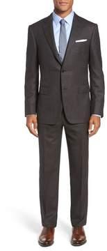 Pal Zileri Men's Classic Fit Micro Weave Wool Suit